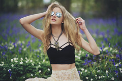 Fire in me (Anastasia Vervueren) Tags: photography photographer wild gipsy boho hipster indie fashion nature flowers purple sunglasses