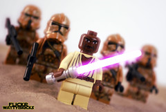 Mace Windu (WattyBricks) Tags: lego star wars mace windu sam samuel jackson attack clones troopers geonosis episode ii prequel lightsaber