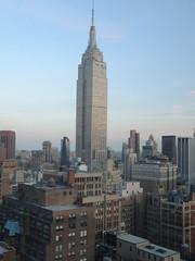 New York. Views of Empire State Building from a mid town wedding venue. (denisbin) Tags: wedding newyork dusk manhattan weddingcake midtown timessquare hudsonriver empirestate skylark skylarkroom
