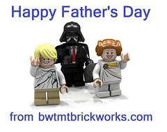 Happy Father's Day 2016 from BWTMT Brickworks (boyzwiththemosttoyz) Tags: dad day lego luke darthvader fathers legostarwars leia iamyourfather legodarthvader legofathersday