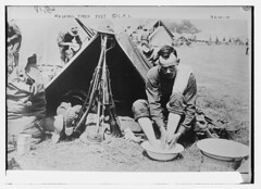 Washing tired feet (LOC) (The Library of Congress) Tags: usmc marine wwi rifle worldwari worldwarone marines libraryofcongress nco greatwar firstworldwar marinecorps sergeant unitedstatesmarinecorps usmarines cpi puptent thegreatwar usmarinecorps dufflebag unitedstatesmarines m1903 hobnailboots noncommissionedofficer xmlns:dc=httppurlorgdcelements11 campaignhat m1903springfield springfieldm1903 committeeonpublicinformation riflestack dc:identifier=httphdllocgovlocpnpggbain26935