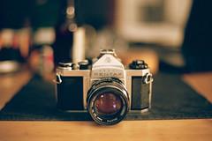 Pentax SV (mattt1970) Tags: camera film analog 35mm bokeh m42 cameraporn kodakportra400 canoneos1v supertakumar50mmf14 pentaxsv canonef2470mmf28lii