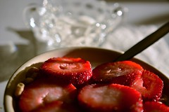 Strawberry Overload! (Reed 1949) Tags: red fruit breakfast nikon sugar strawberrys fostoriaglassware tamron18270 nikond5200