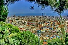 Barcelona-Panorama (gerard eder) Tags: world barcelona park city travel parque espaa spain europa europe ciudades stdte catalua spanien reise metropole