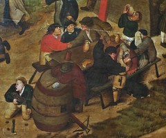 """Fair with Theatrical Presentation"", (detail) c.1600, Brueghel, Pieter the Younger (Tatiana Koh) Tags: art museum painting saintpetersburg hermitage brueghel"
