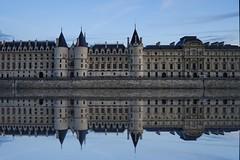 Conciergerie mirror (l.cutolo) Tags: city paris architecture aperture europe cityscape cloudy dusk sony scape senna a7 oldcity onone waterreflection tlp conciergerie bluehours worldtrekker sonyfe2470mmf40zaoss
