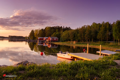 amazing place (salas-3) Tags: landscape evening ware boat sky colors nature light reflection amazing beautiful nikon d7100 nikkor1855mm trees house suomi finland pohjanmaa photo photography