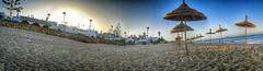 """Gran Hotel"" Beach (Yassine Abbadi) Tags: road bridge sea sky cloud mountain beach grass plane sunrise buildings spring hill mosque morocco maroc hdr tetuan tetouan martil bouanane"