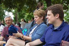 Jim, Elaine, KevinS at Parade, 2015 (marylea) Tags: family community michigan jim parade elaine dexter kevins memorialday 2015 may25 memorialdayparade washtenawcounty
