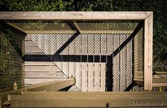 Geometric (Mabvith) Tags: wood uk england tower shadows mesh balcony cage ledge silverdale carnforth rspb leightonmoss