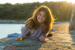 Hold the spark (razvan_ilin) Tags: travel sunset sea portrait beach concrete seaside nikon europe mediterranean croatia eurotrip goldenhour pula wak d3200