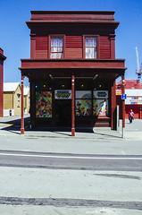 Wellington Lolly Shop in Cuba St (Naomi Rahim (thanks for 4.9 million visits)) Tags: street wellington newzealand nz northisland 2016 architecture building historic lollyshop cubast road milkbar summer heritage red iron sky shop store