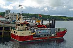 Margaret Sinclair (Zak355) Tags: scotland riverclyde boat ship scottish vessel shipping landingcraft fishfarm bute rothesay cargoship isleofbute margaretsinclair inverlussamarineservices