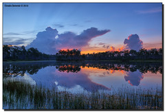 Turtle in the Sky (Fraggle Red) Tags: morning lake reflection clouds sunrise landscape nationalpark florida evergladesnationalpark campground hdr enp canonef24105mmf4lisusm longpinekey 7exp miamidadeco dphdr canoneos5dmarkiii 5d3 5diii adobephotoshopcc adobelightroomcc