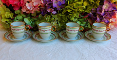 Vintage Limoges Porcelain Chocolate Cups & Saucers Rose Swags ~ Gold (Donna's Collectables) Tags: rose vintage gold chocolate cups porcelain swags ~ saucers limoges