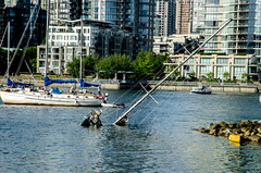 Sinking boat (Federico Casares) Tags: sea canada vancouver boat britishcolumbia sinking
