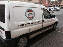 Kinky in Chipping Campden (tmvissers) Tags: uk england musician white truck citroen band cotswolds van caterer chipping berlingo foodservice campden kinkyfarnham