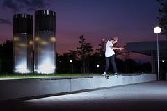 Backside Tailslide Ulm (Freeze the action) Tags: sunset skateboarding action crew freeze skate ulm steiner janik skatesession wlb freezetheaction janiksteiner ulmskate nightskatesession wlbcrew