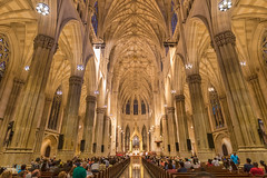 St. Patrick's Cathedral (skumar0108) Tags: city nyc newyorkcity travel usa newyork saint america cathedral prayer ceremony patrick wideangle stpatrick 30rock stpatrickcathedral rockefefeller