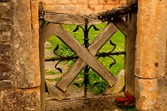 The Gate (acwills2014) Tags: gate character rustic wells charm textures workmanship vicarsclose ornamentalironwork