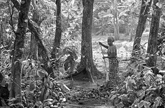 Roots. (Carlos Arriero) Tags: travel blackandwhite woman blancoynegro mujer nikon costarica roots tamron tortuguero viajar 2470mm races d800e carlosarriero