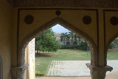 Arches looking at the gardens (VinayakH) Tags: india gardens royal palace hyderabad royalpalace nizam telangana chowmahallapalace
