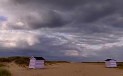 Skies looking towards Europe. (Englepip) Tags: sky storm beach coast stripes dunes horizon east hits candyfloss