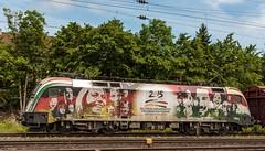 2222_2016_05_28_Gemnden_MRCE_dispolok_ES_64_U2_-_021_DISPO_6182_521_2015_Deutsch-Ungarisches_Freundschaftsjahr_mit_Hbbillns (ruhrpott.sprinter) Tags: railroad train germany logo bayern deutschland diesel outdoor frankfurt main natur eisenbahn rail zug db cargo nrw passenger re fret gelsenkirchen ruhrgebiet wrzburg freight locomotives fs 185 189 152 lokomotive 182 1440 sprinter ruhrpott gter 0426 2015 gemnden dispo sncb 7186 6182 6189 mrce reisezug dispolok txlogistik taoos es64u2 ellok es64f4 deutschungarischesfreundschaftsjahr
