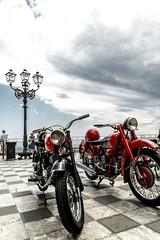 Motorbikes (mdc-photo-graphic.com) Tags: blue red summer sky italy outdoors corso sicily taormina motorbikes umberto