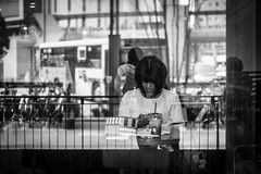 IMG_2807-2 (aaron.ackerley) Tags: street streetphotography girl blackandwhite monochrome fukuoka japan kyushu