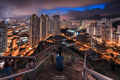 Ping Shan (mikemikecat) Tags: street house building rooftop architecture night vintage hongkong evening twilight colorful pattern nightscape sony cityscapes hong kong nostalgia housing block nightview   kowloon   stacked nightscapes estates lionrock   carlzeiss  kowloonbay  pingshan    a7r         sel1635z fe1635mm  mikemikecat