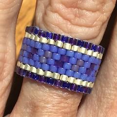 Anillo morado (Nata R.) Tags: purple ring miyuki anillo morado delicas annello