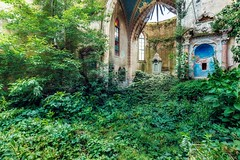 into the green (Andy Schwetz - I LOVE DECAY) Tags: urbex abandoned church chiesa green decay nature canoneos6d canon1635f40 modernruins religious verlassen verfall marode andyschwetz ilovedecay heartwoks derelict kirche kociol glise urbanexploration