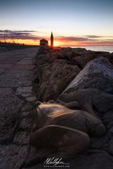 Summer solstice (Callegher Marco - The beauty in my eyes) Tags: sea summer sun seascape beach church sunrise rocks mare alba frog solstice scogli scogliera caorle solstizio