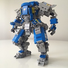 classic space mech: heavy lifter + extra arms for precision (ohmgeez) Tags: lego benny mecha mech classicspace neoclassicspace