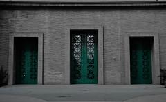 Gates (ateitis) Tags: color green glass doors selection walls