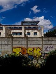 Tock (Nicolas -) Tags: park sky cloud paris france color building wall painting graffiti candle tag skating suzanne peinture ciel skate nuage mur parc couleur batiment bougie lenglen nicolasthomas