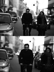 [La Mia Citt][Pedala] (Urca) Tags: portrait blackandwhite bw bike bicycle italia milano bn ciclista biancoenero mir bicicletta 2016 pedalare dittico nikondigitale ritrattostradale 85586