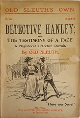 Unmasking a woman dime novel cover (steammanofthewest) Tags: dimenovel 1896 oldsleuth unmasking detective crime