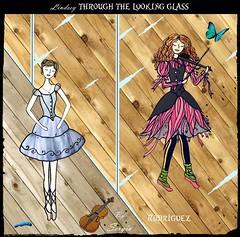 Lindsey through the looking glass (Galdur Vindur) Tags: mirror alice wonderland