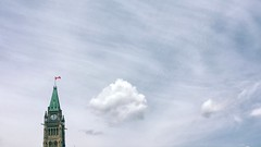 Democracy goes poof   188/366 (emrold) Tags: 366the2016edition 3662016 day188366 6jul16 iphoneography ottawa parliamenthill sky clouds vsco minimalism