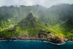 Resolute (MSargePhoto) Tags: blue hawaii coast waterfall helicopter kauai tours napali