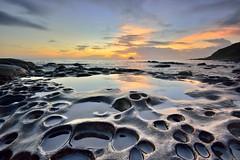 ~~ God Tables Sunrise (Shangfu Dai) Tags:  taiwan formosa     godtables  sunrise nikon d800e sea rock afs1635mmf4
