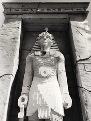 Lost Civilization? (GrumpyMan76) Tags: old brick statue sepia lego egypt egyptian legoland