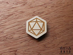 6by6Arts_d20magnets4 (thea superstarr) Tags: dungeonsanddragons icosahedron dnd d20 madeinusa lasercut laserengraved 6by6arts