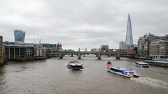 London - DSC_0289 (John Hickey - fotosbyjohnh) Tags: city urban london tourism architecture buildings river landscape boats sightseeing bridges riverthames waterway 2016 tourboats rivercraft rivercruises july2016