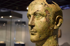 Losing My Mind (pilot.henry) Tags: old rome face statue metal museum ancient display roman head historic bust copper corrosion decayed emperor