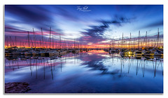 Manly Harbour (Troy Holt Photography) Tags: ocean beautiful clouds sunrise canon boats long exposure harbour tide manly peaceful australia brisbane filter lee qld colourful 1740mm 6d colourfull