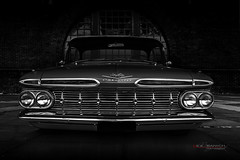 """Grounder"" (Neil Banich Photography) Tags: blue cars chevrolet belair automobile grill chevy hotrods 1959 carpictures 1959belair neilbanichphotograhy"