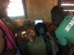 Making a banana keyboard with Mike Lee (Lubuto Library Partners) Tags: lubuto lubutolibraryproject zambia africa streetkid streetchildren ovc reading literacy library libraries lubutoliteracy olpc lubutolibraries lubutolibrarypartners publiclibraries children youth ovcy